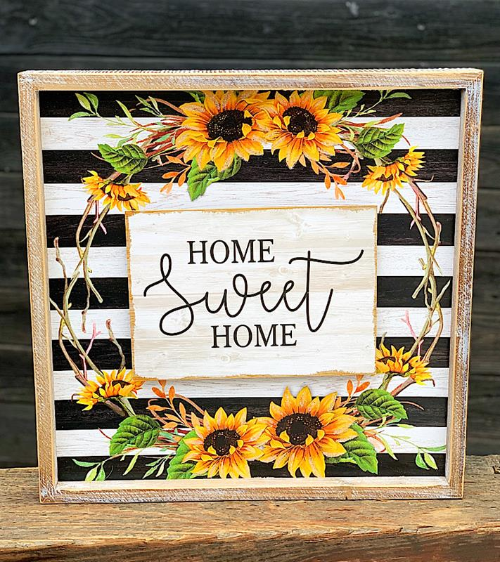Home Sweet Home Stripes & Sunflowers Sign,2520640