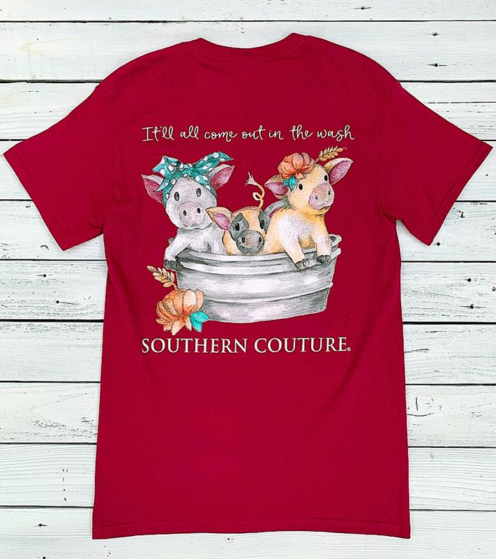 Out In The Wash Tee,SC622BE-2XL