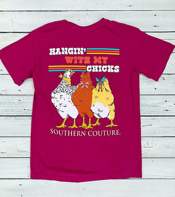 Hang With My Chicks Tee,SC553BBE-S