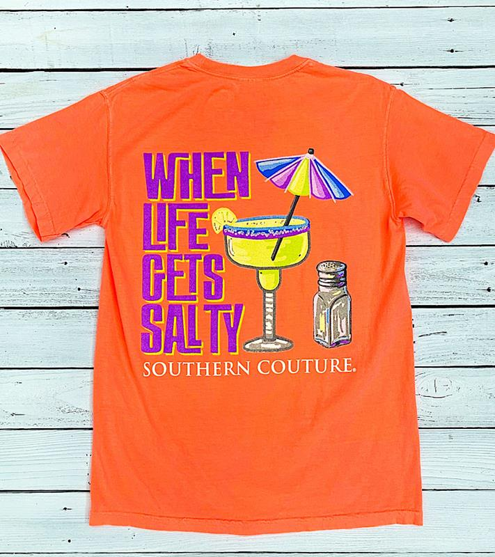 Life Gets Salty Tee,SC601NRO-S