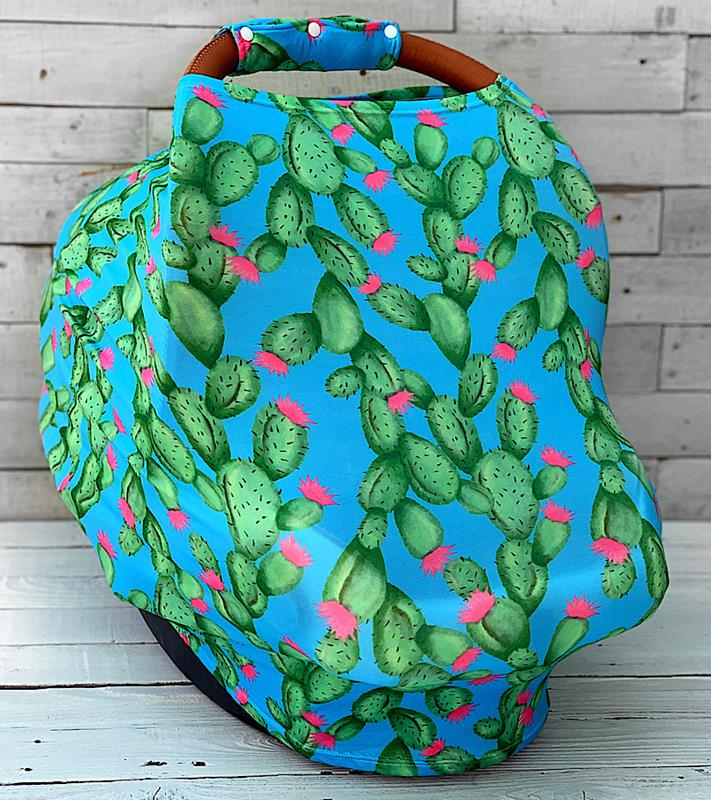 Carlie Cactus Carseat Cover,CARLIECARSEATCOVER