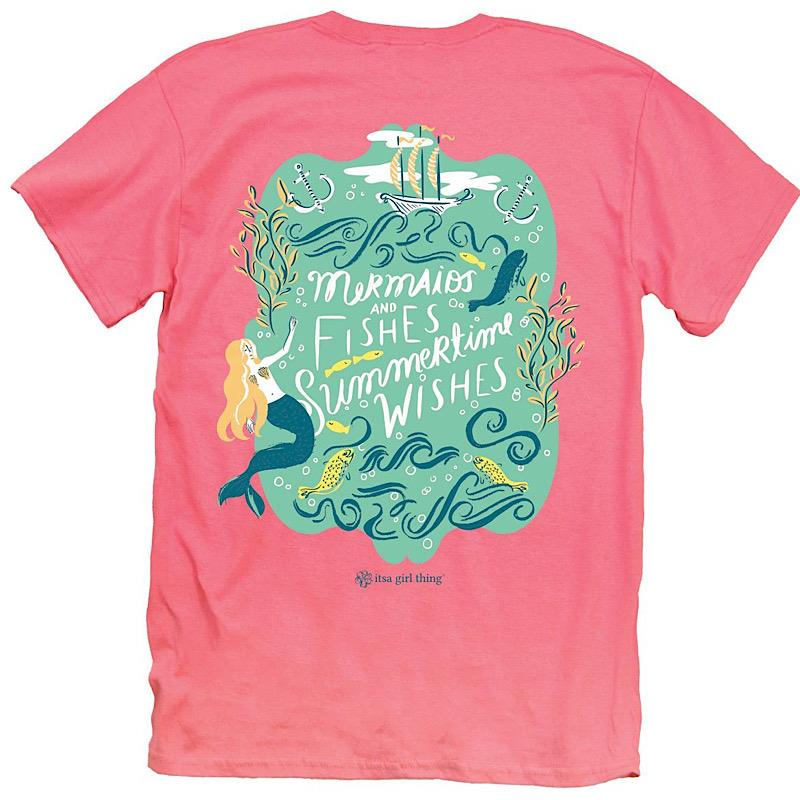 Mermaids & Fishes Tee,IT-16546-XSMALL
