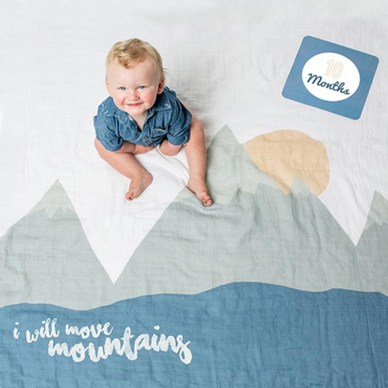 Move Mountains Blanket And Card Set,FIRSTYEAR-MOUNTAINS