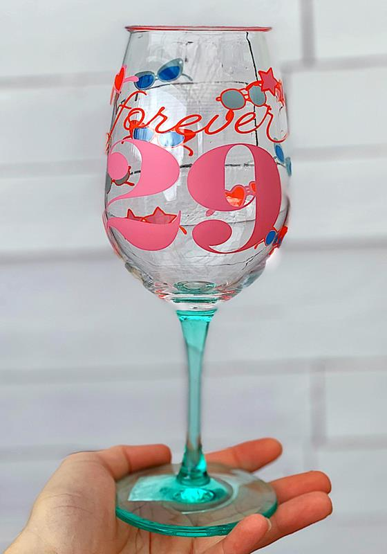 Forever 29 Wine Glass,QWGO-20896