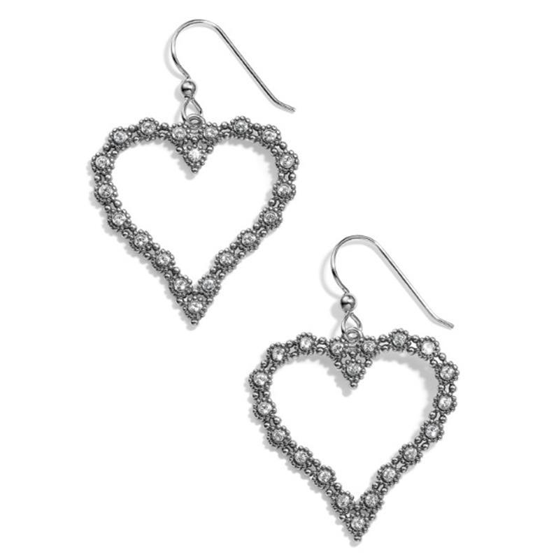 Twinkle Splendor Heart French Wire Earrings,JA5361