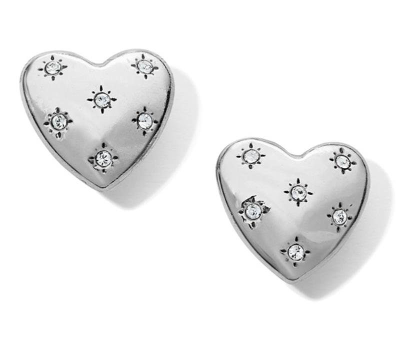 Stellar Heart Post Earrings,JA6311