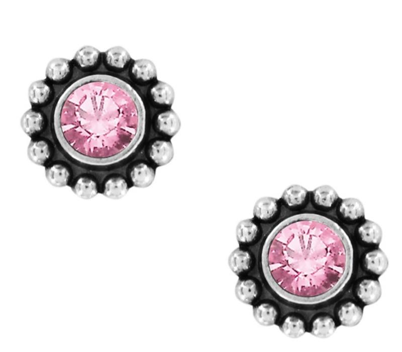 Twinkle Rose Mini Post Earrings,J2049B