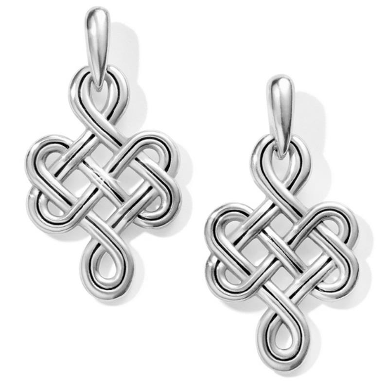 Interlok Endless Knot Post Drop Earrings,JA5840
