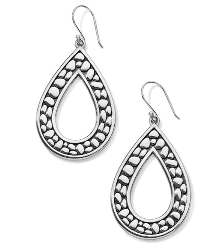 Pebble Open Teardrop Reversible Earrings,JA5860