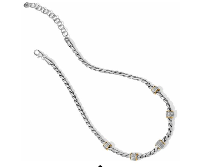 Meridian 2 Tone Necklace,JN3480