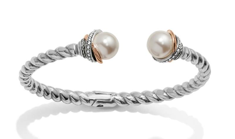 Neptune's Rings Pearl Hinge Bangle,JF665D