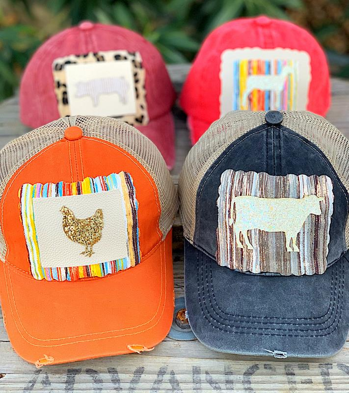 Glitter Farm Animal Caps,93414