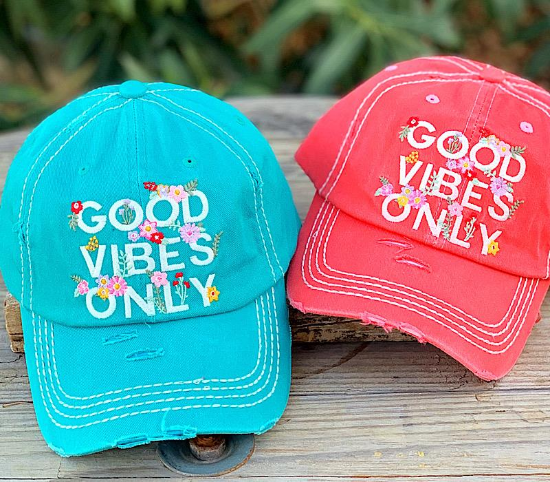 Good Vibes Only Caps,GOODVIBES-TURQ