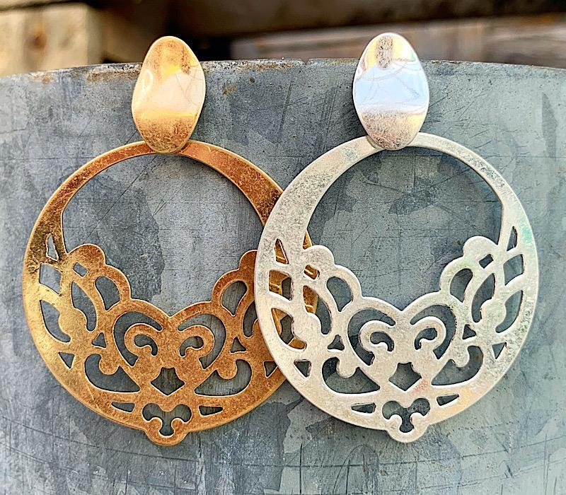 Cora Earrings,CORAER-GOLD