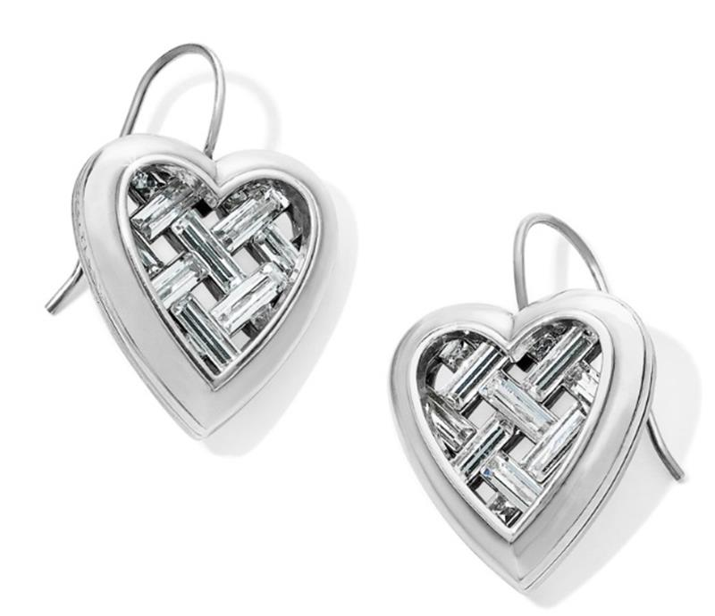 Love Cage Heart French Wire Earring,JA6431