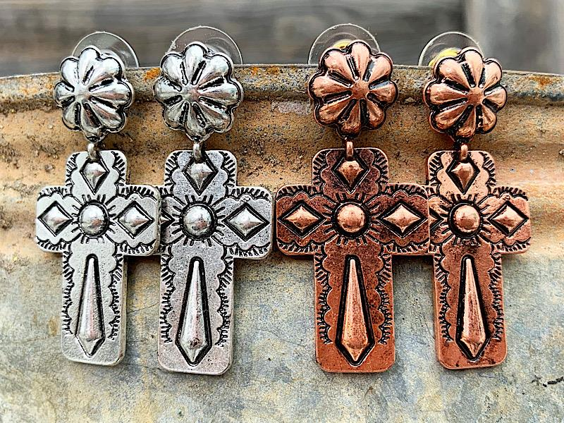 Kenny Cross Earrings,KENNYCROSS-COPPER