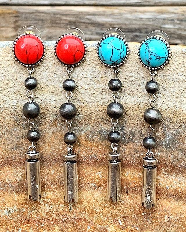Tina Earrings,TINAER-TURQ
