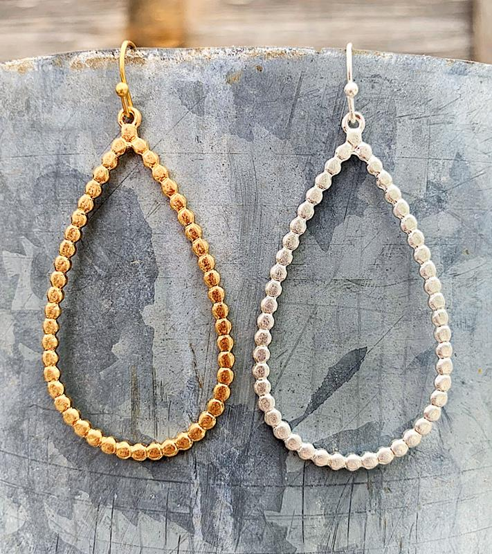 Dottie Teardrop Earrings,DOTTIETDRP-GOLD