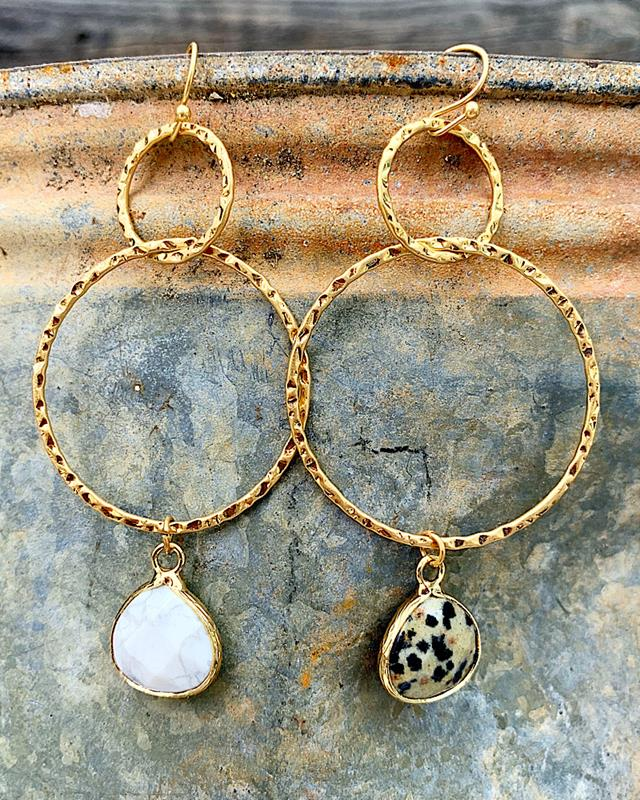 Mandy Earrings,MANDYER-WHITE