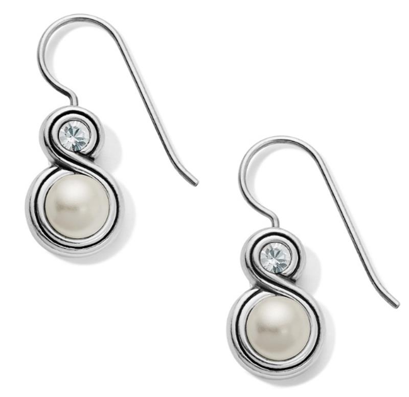 Infinity Pearl French Wire Earrings,JA6293