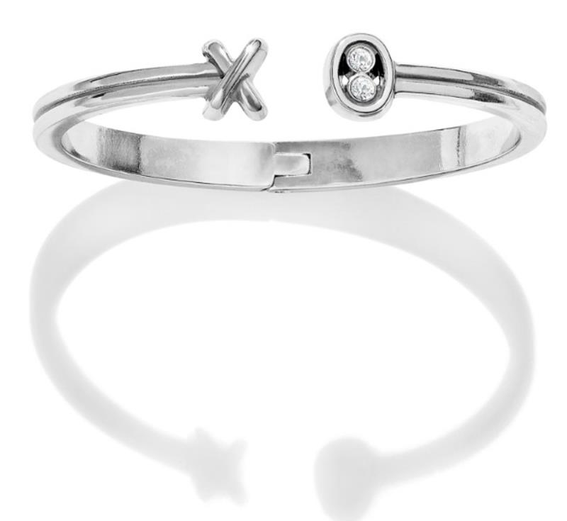 Hugs & Kisses Open Hinge Bangle,JF6941