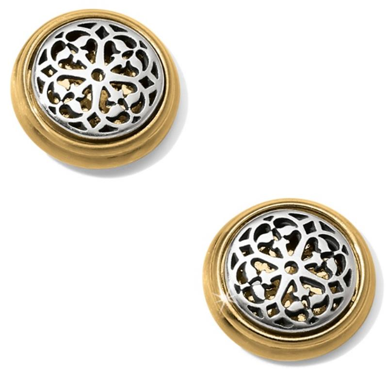 Ferrara 2 Tone Post Earrings,JA5802