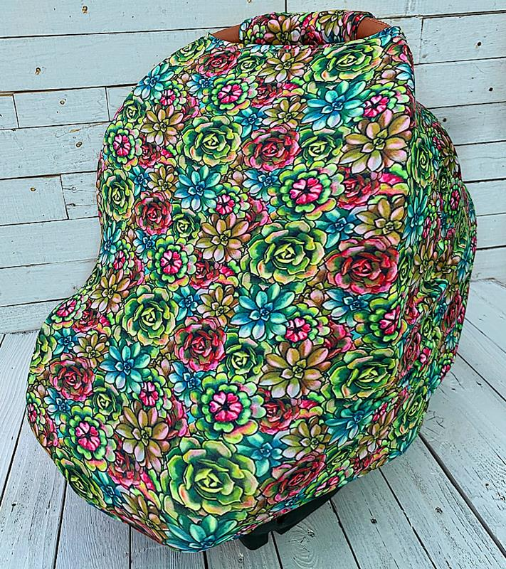 Succulent Carseat Cover,SUCCCARSEATCOVER