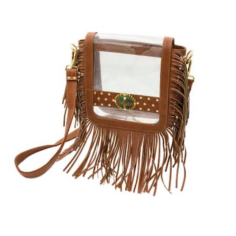 Stella Saddle Fringe Crossbody,CD-CRB-SADF-COGNAC