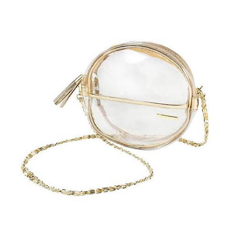 Rosalie Gold Round Crossbody,CD-CAN-GOLD