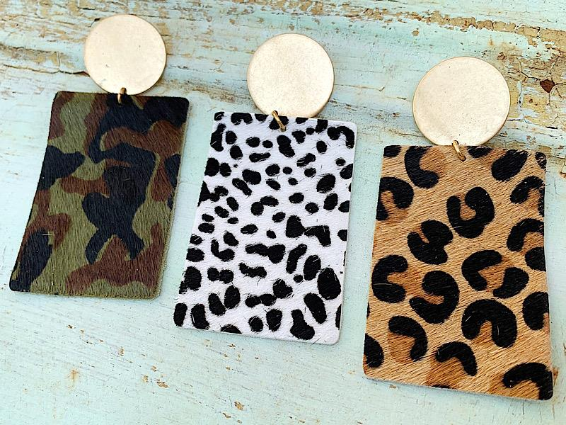 Riley Earrings,RILEYER-CAMO