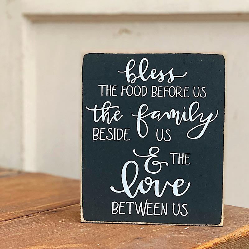 Bless The Food Box Sign,106740