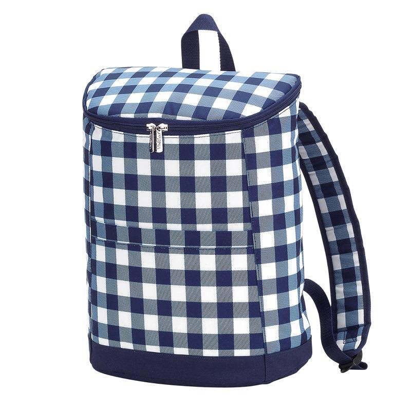 Navy Check Backpack Cooler,M675VL-NYCHECK
