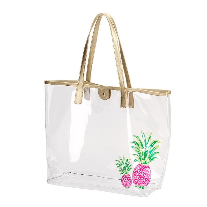 Pineapple Clear Tote,M899VL-PINEAPPLE