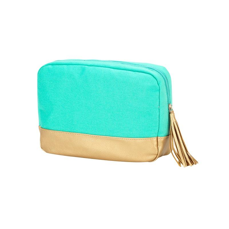 Mint Cabana Cosmetic Bag,M235VL-MINT