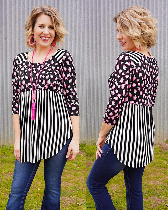 Blaire Top,T91098-SMALL