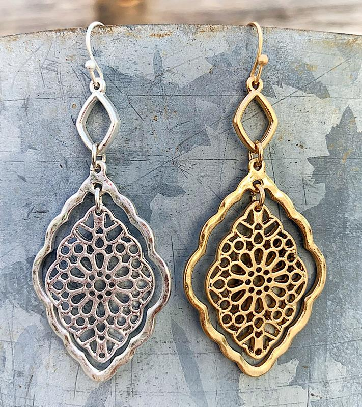 Deidre Earrings,DEIDRE-ER-GOLD