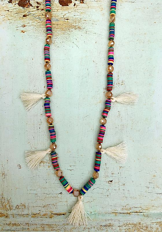 Mona Tassel Necklace,MONATASNK
