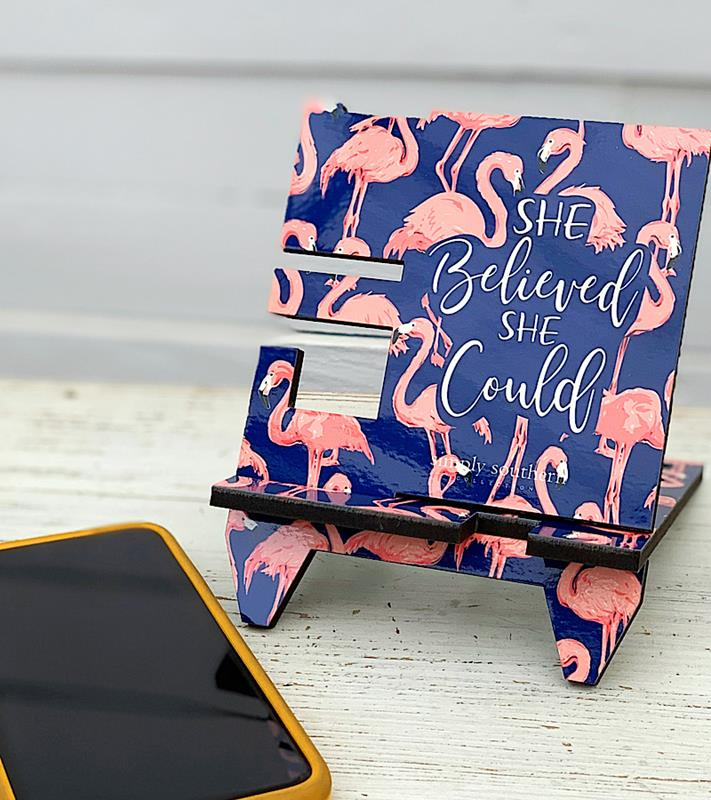 She Believed Phone Stand,0120-PHONESTND-BELIE