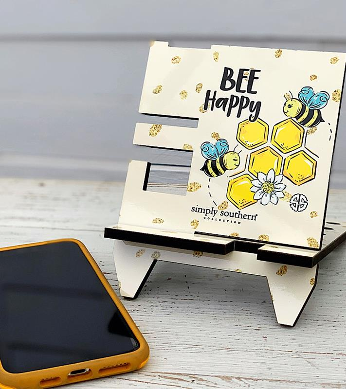 Bee Happy Phone Stand,0120-PHONESTND-BEE