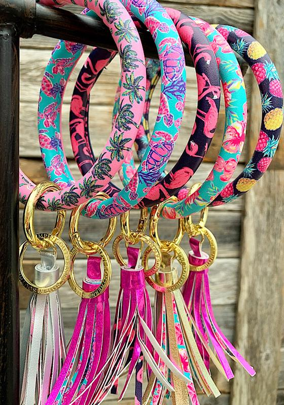 Tropical Bangle Key Ring,0120-BANGLEKEY-FLAMI