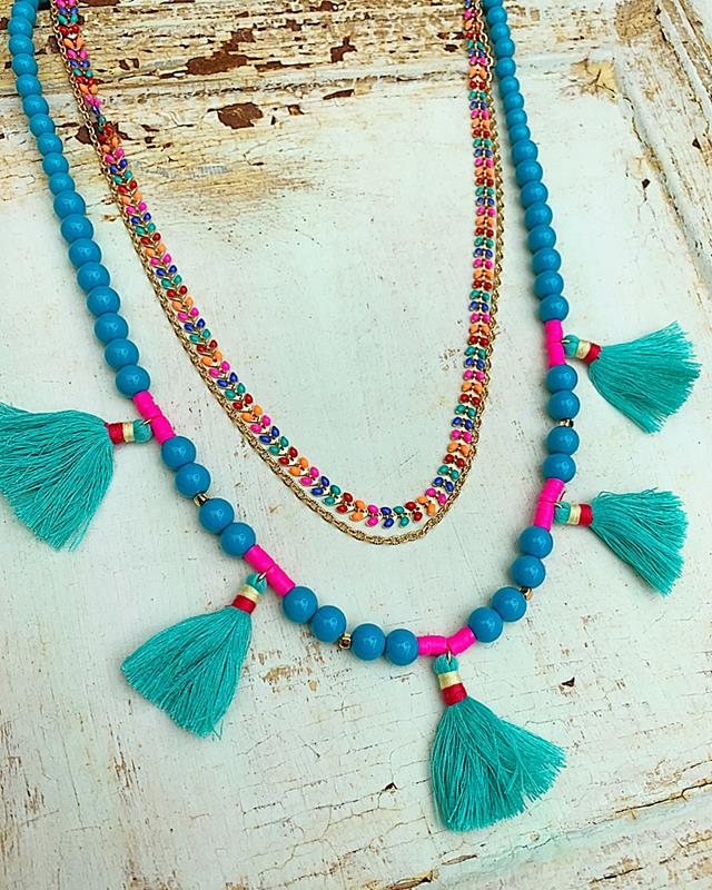 Take It Easy Tassel Necklace,TAKEITEASYNK