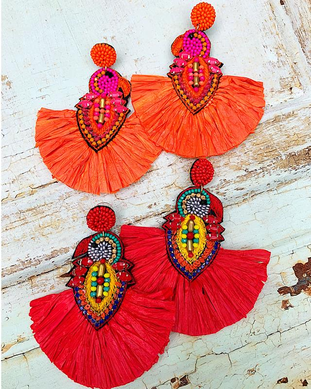 Parrot Earrings,PARROTER-ORANGE