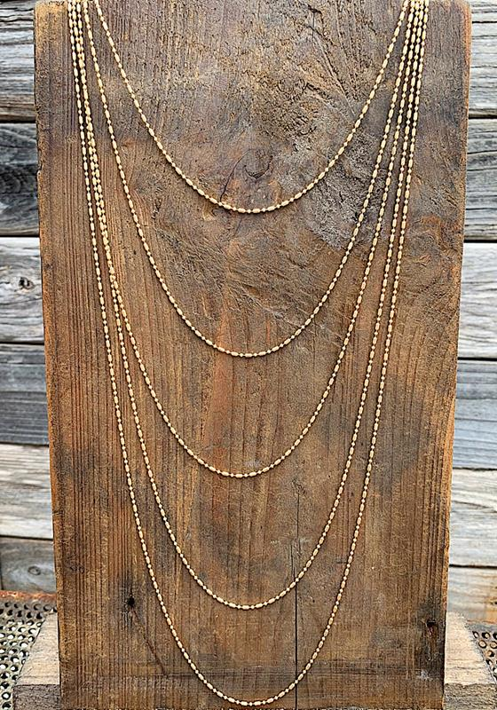 Margo Gold Necklace,MARGO-NK-GOLD