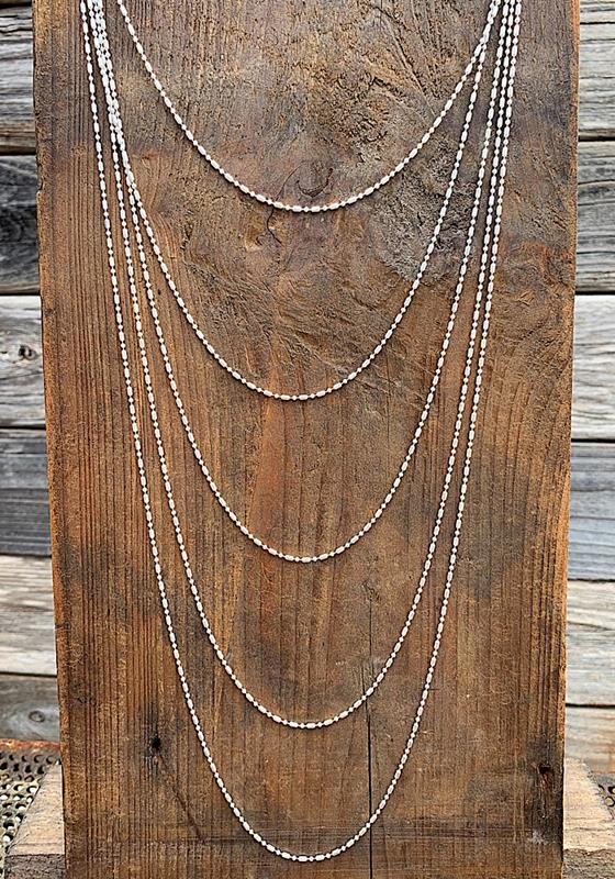 Margo Silver Necklace,MARGO-NK-SILVER