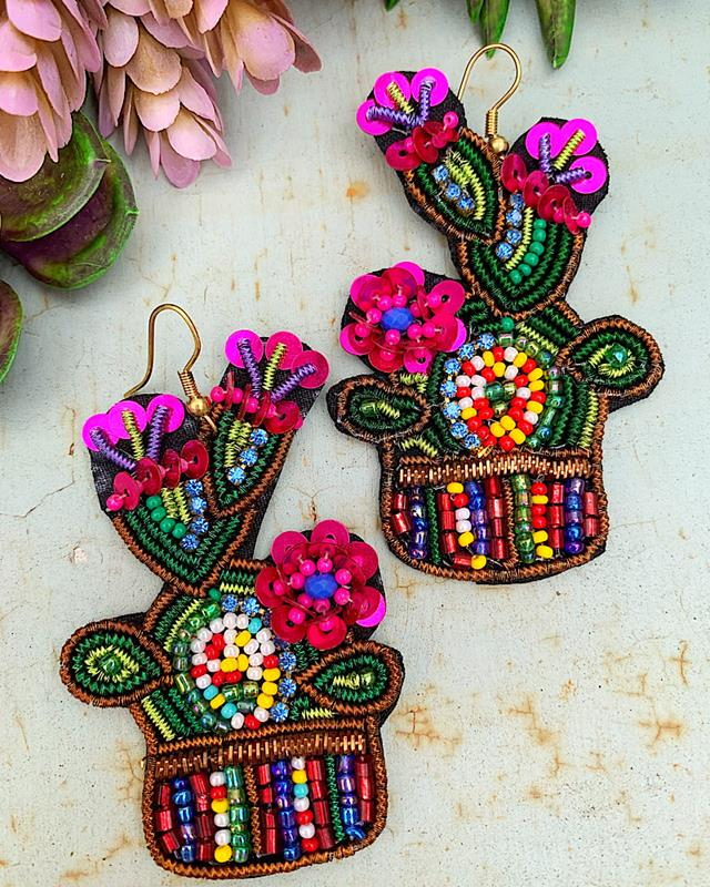 Sassy Cactus Earrings,SASSYCACTER