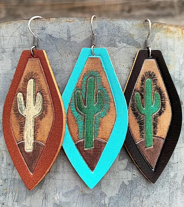 Desert Vibes Earrings,DESVIBESER-TURQ