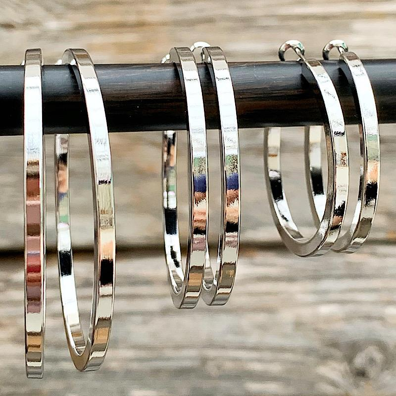 Sasha Silver Hoops,SASHASILVER-MEDIUM