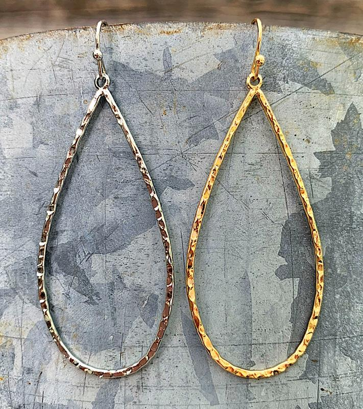 Ella Teardrop Earrings,ELLATDRP-ER-SILVER